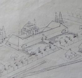 Skizze Grundriss – wahrscheinlich aus dem 18. Jahrhundert
